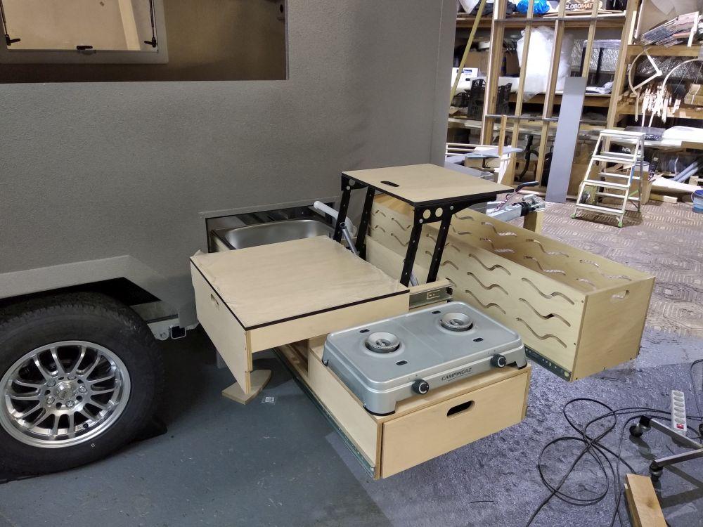 Expedition camper kitchen
